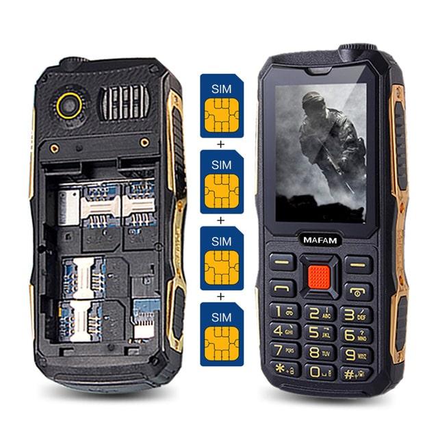teléfonos móviles de 4 SIM