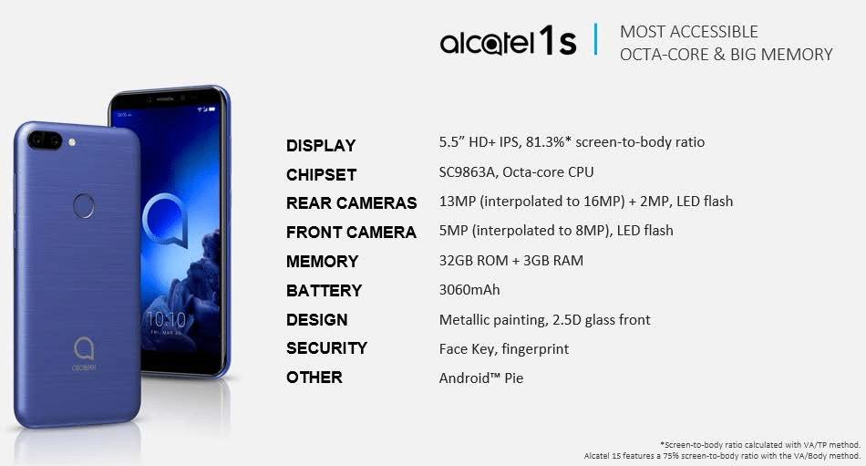 Alcatel 1S (2019)
