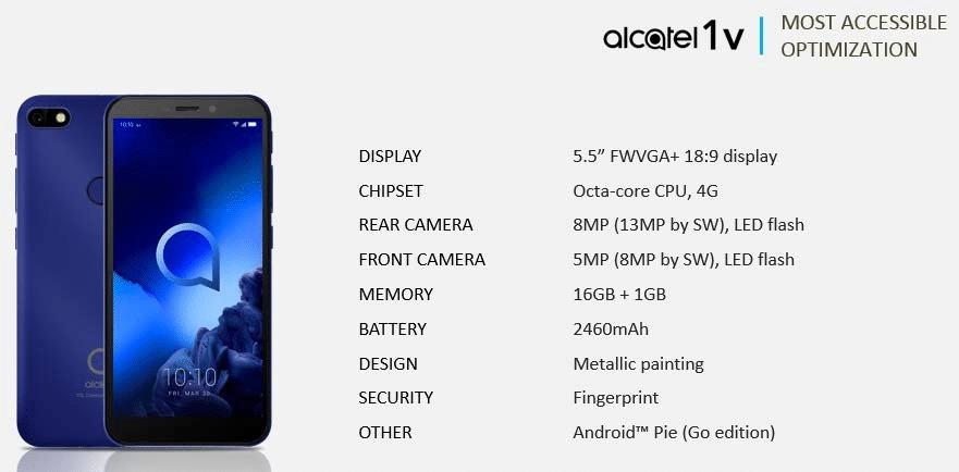Alcatel 1V 2019
