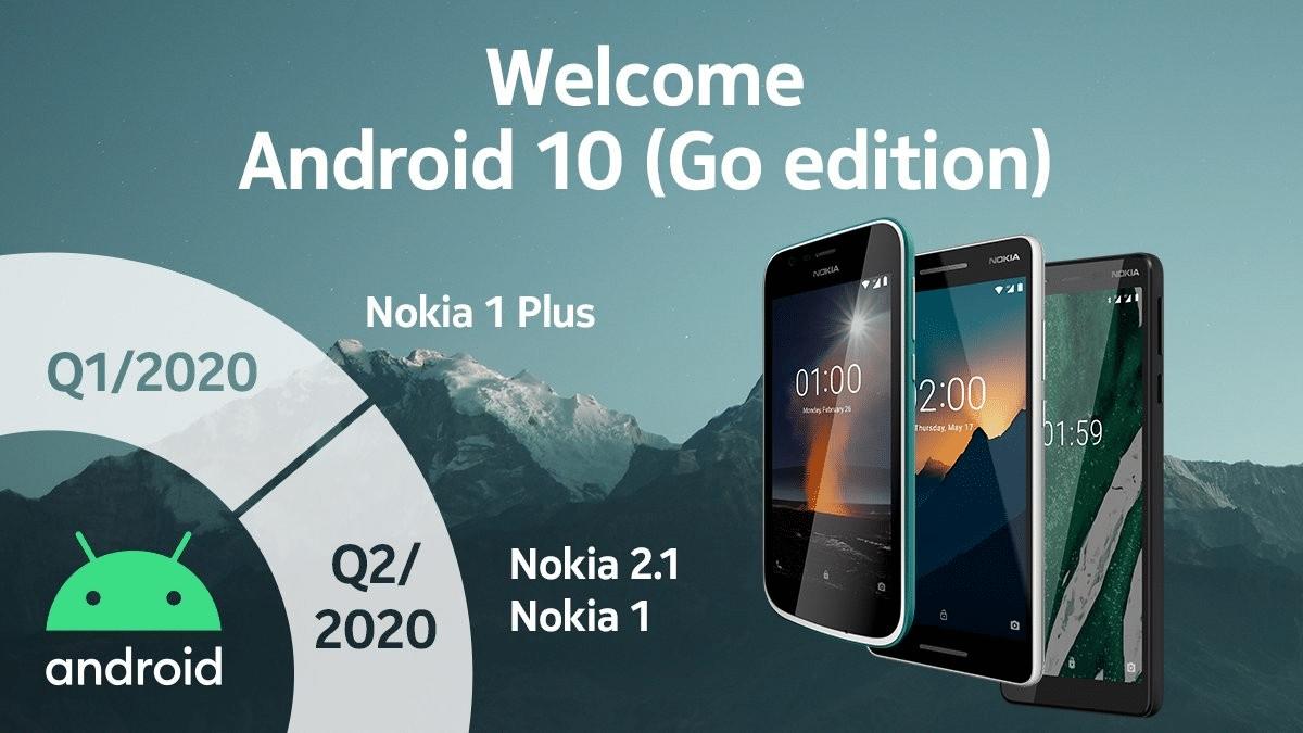 actualización de Android 10 Go Edition