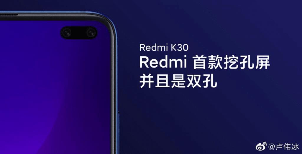 Redmi K30 contará con doble cámara frontal