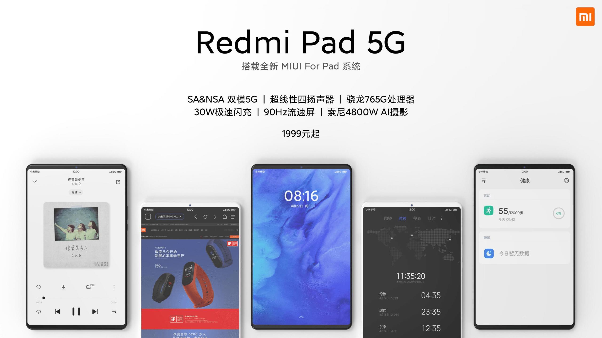 Especificaciones Redmi Pad 5G